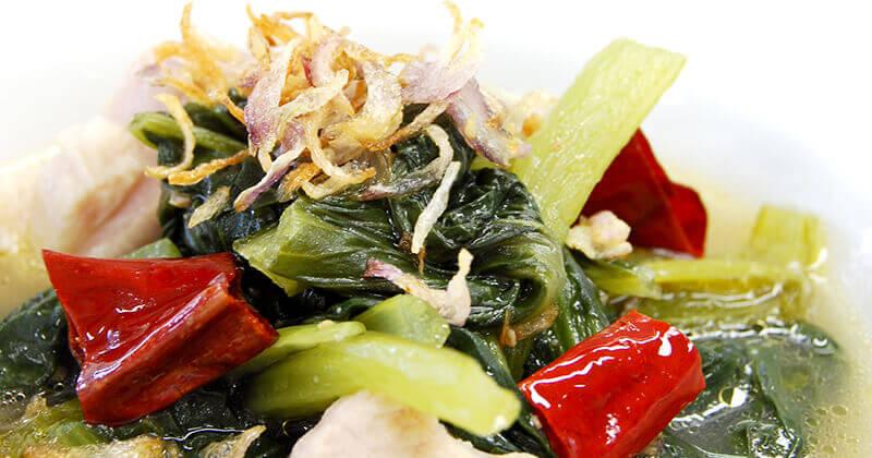ジョー・パッカート(北タイの青菜スープ) จอผักกาด