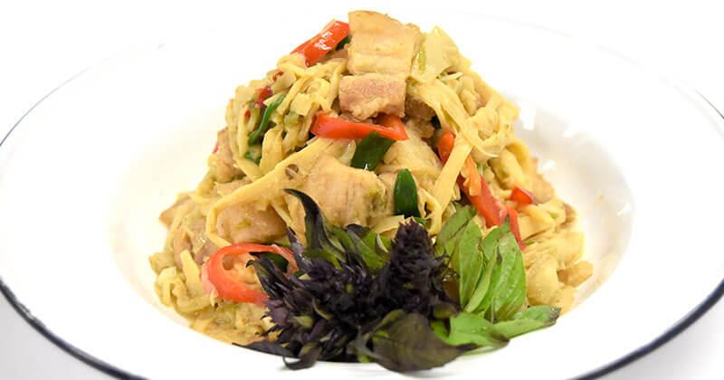 クア・ノーマイ(北部風タケノコの炒めもの)คั่วหน่อไม้
